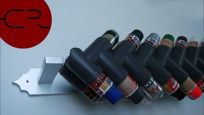 Spray can storage rack 2.0