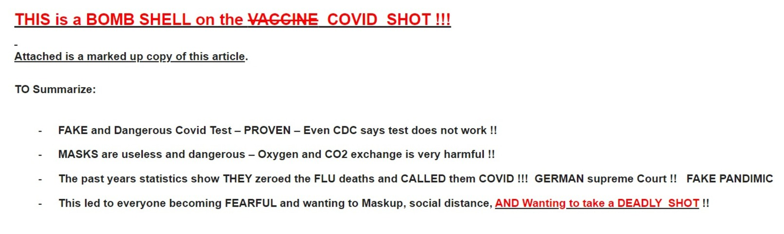 The COVID Vaccine is not a Vaccine (short version from CHD)