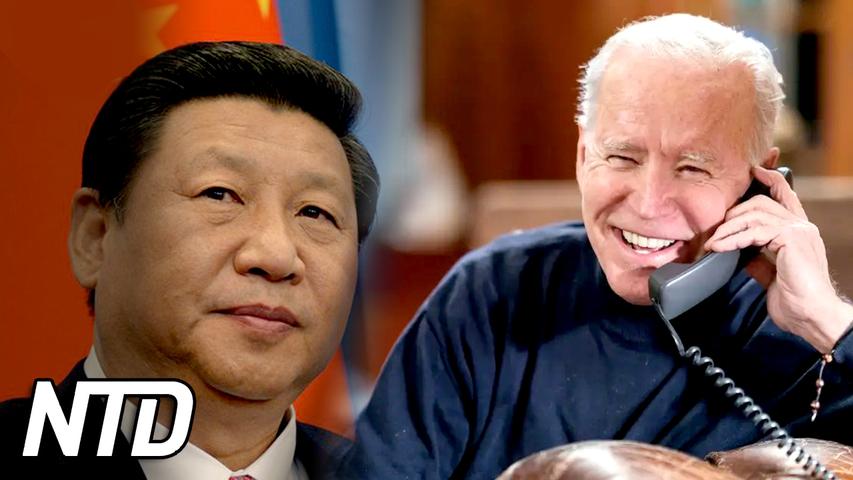 Biden talar med xi jinping trots spända relationer | NTD NYHETER