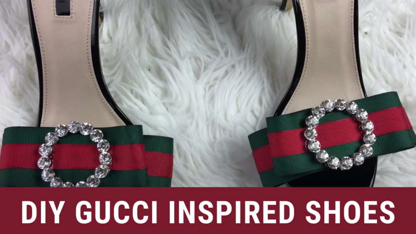 DIY Gucci Inspired Shoes