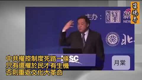 #北大教授王建国 经典演讲「中共权控制度死路一条。只有还权于民才有生机,否则必重返文化大革命!!」