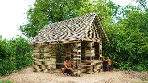 Building Bamboo Custom House Design By Ancient Engineering In Forest