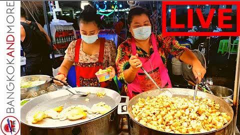🔴 LIVE from Bangkok   Street Food Market FESTIVAL ❤️🇹🇭