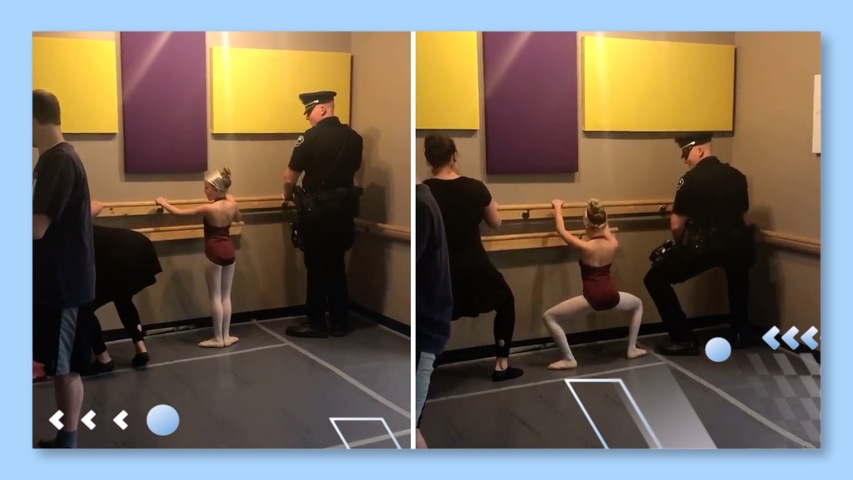 Cop Dad Does Ballet with Daughter