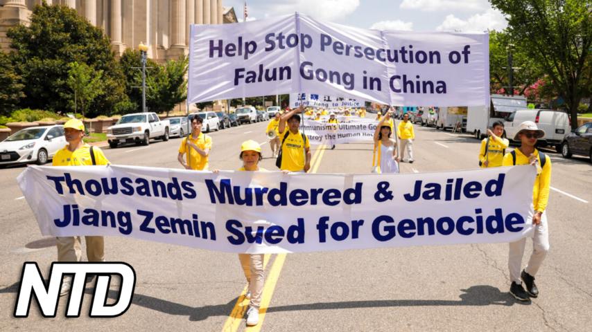 1500 personer demonstrerar mot KKP:s förföljelse av Falun Gong | NTD NYHETER