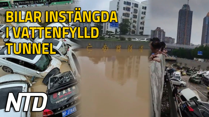 Bilar instängda i Jingguang-tunneln vid översvämningen i Zhengzhou, Kina | NTD NYHETER