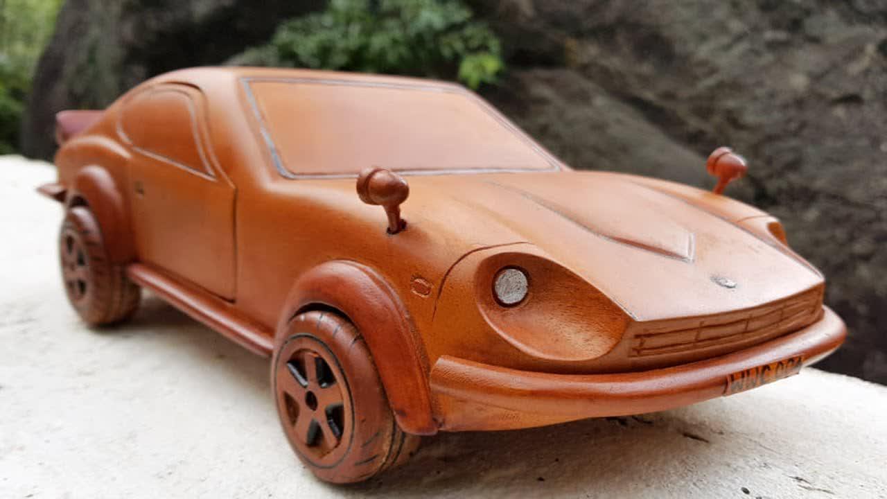 Wood Carving Nissan Datsun 240Z  😍 Amazing Wood working Skills