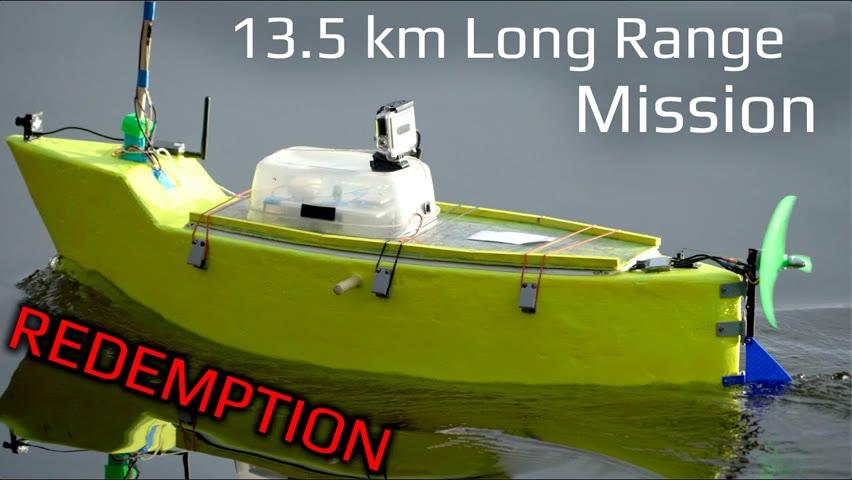 Long Range Autonomous R/C Boat Waypoint Mission - 13.5 km
