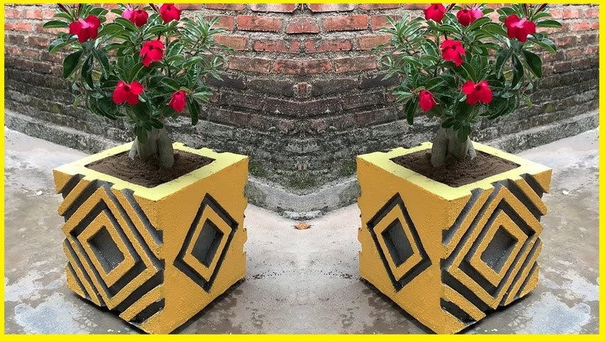 Design and Build Cement Pot Easy at Home - Amazing Garden Decoration
