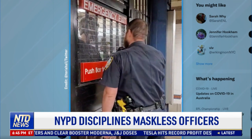 NYPD Disciplines Maskless Officers
