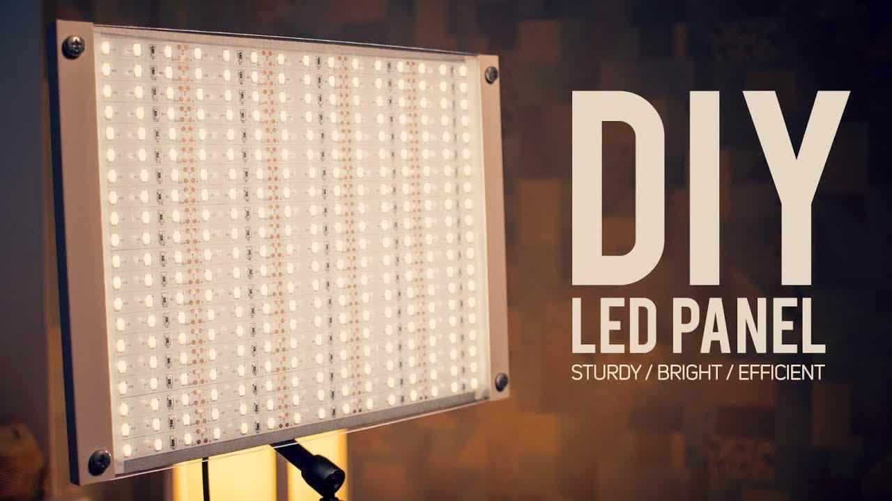 DIY LED PANEL Sturdy / Super Bright / Variable Brightness (90+ CRI) [How To Make]