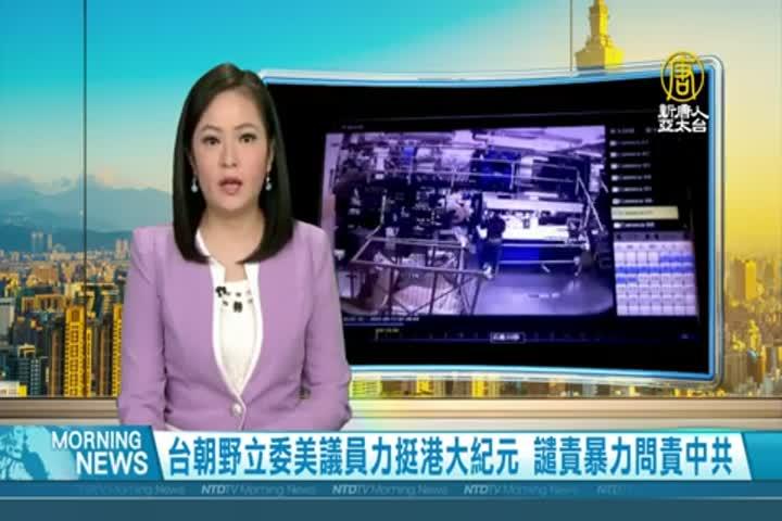 台朝野立委美議員力挺港大紀元 譴責暴力問責中共