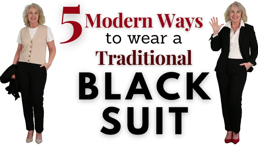 5 Modern Ways to Wear a Traditional Black Suit