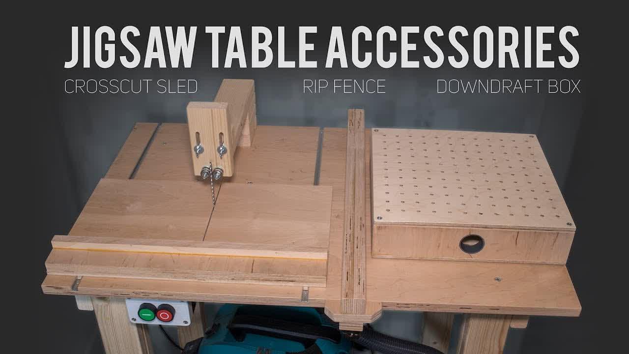 Jigsaw Table like Table Saw?! [How To Make]