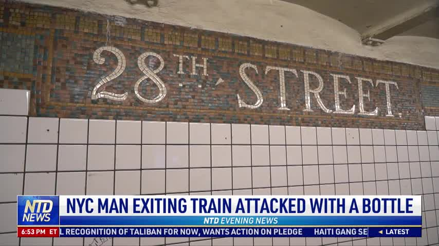 NYC Man Exiting Train Attacked With a Bottle