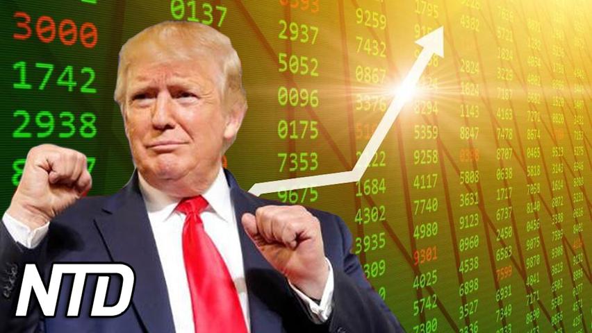 Aktier kopplade till Trumps mediebolag stiger kraftigt | NTD NYHETER
