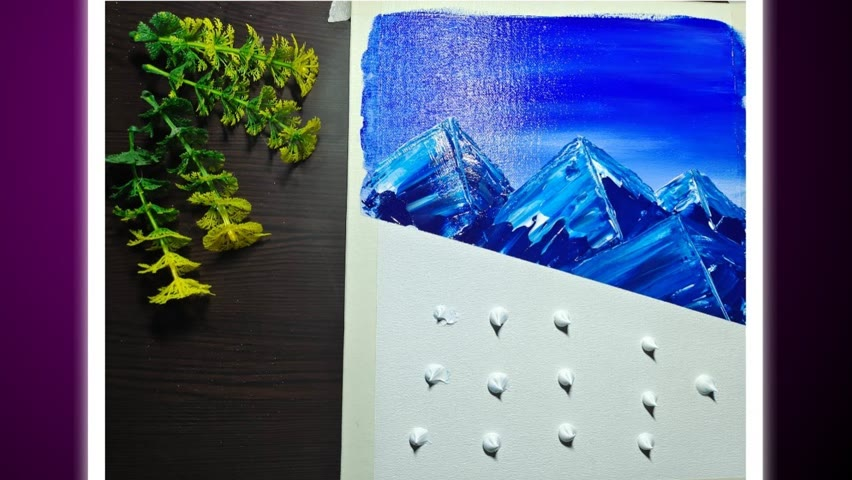 Acrylic painting   mountains in a very easy way   easy painting  @Artwork Ruchika