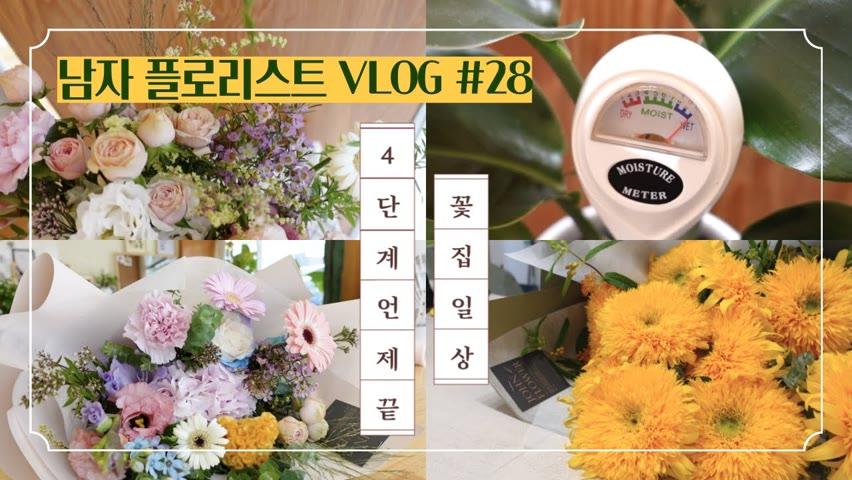 [#28 존플라워TV][남자 플로리스트 브이로그] 코로나에도 예쁜 꽃다발 / 신박한 식물 아이템 물주시개 / Korean Male Florist Vlog