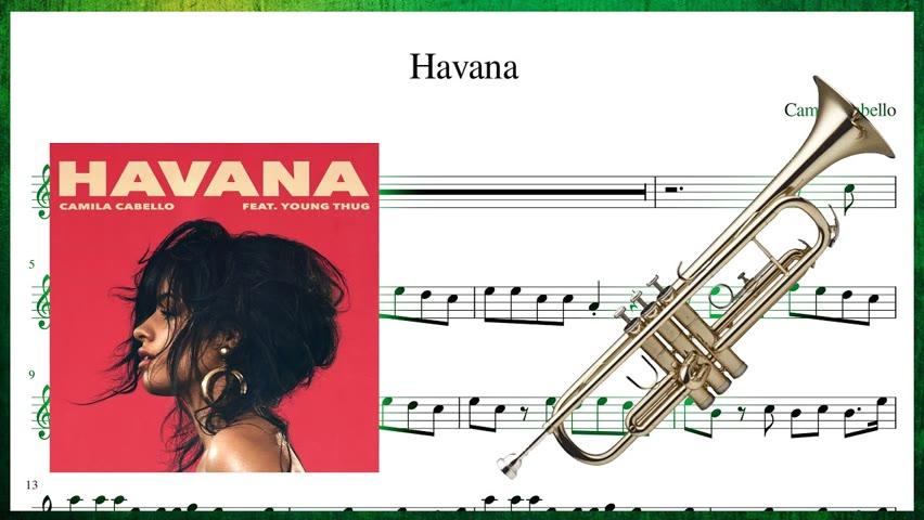 Camila Cabello - Havana (Trumpet Sheet Music Play Along!)