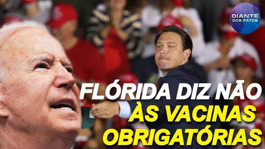Governador da Flórida revida contra os mandatos de vacinas; dose de reforço nāo é desnecessária? 2021-09-15 07:04
