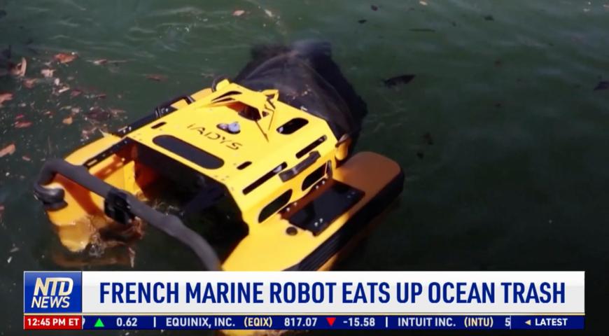 French Marine Robot Eats up Ocean Trash