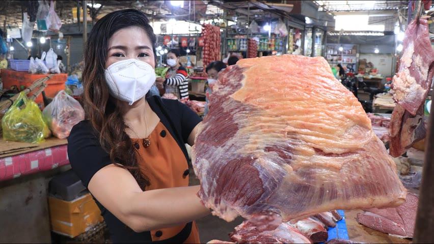 Market show, Buy beef to make beefsteak / Beefsteak recipe