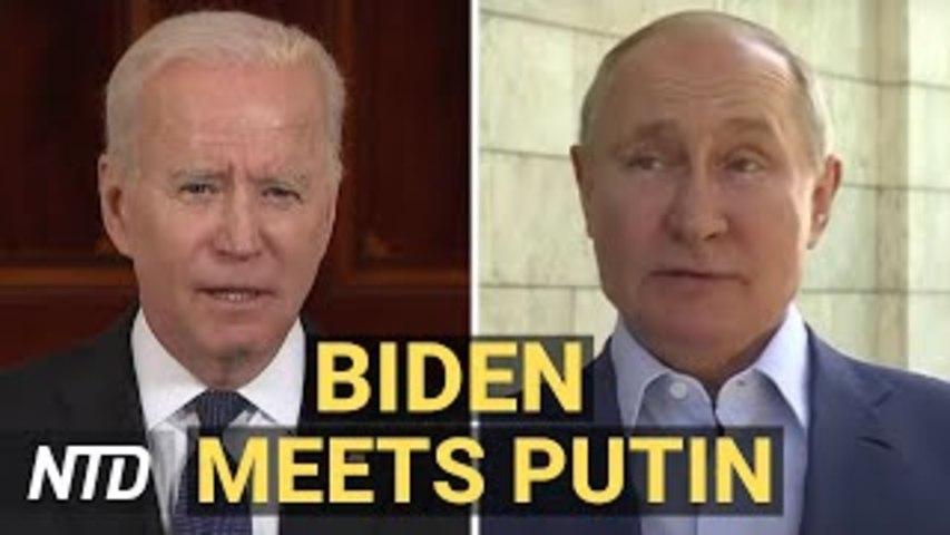Biden Meets With Putin in Geneva; Federal Court Blocks Biden's Oil, Gas Pause | NTD