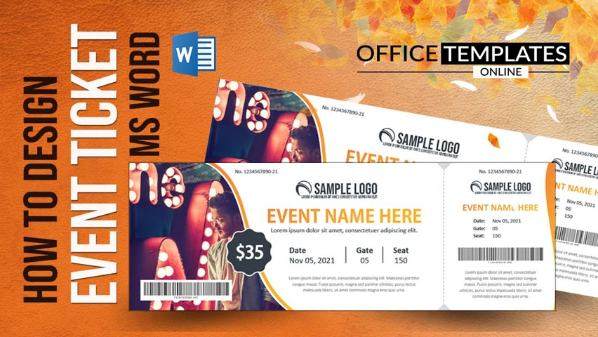 Event Ticket Design in MS Word   DIY Tutorial   Professional Ticket Template in 10 Minutes