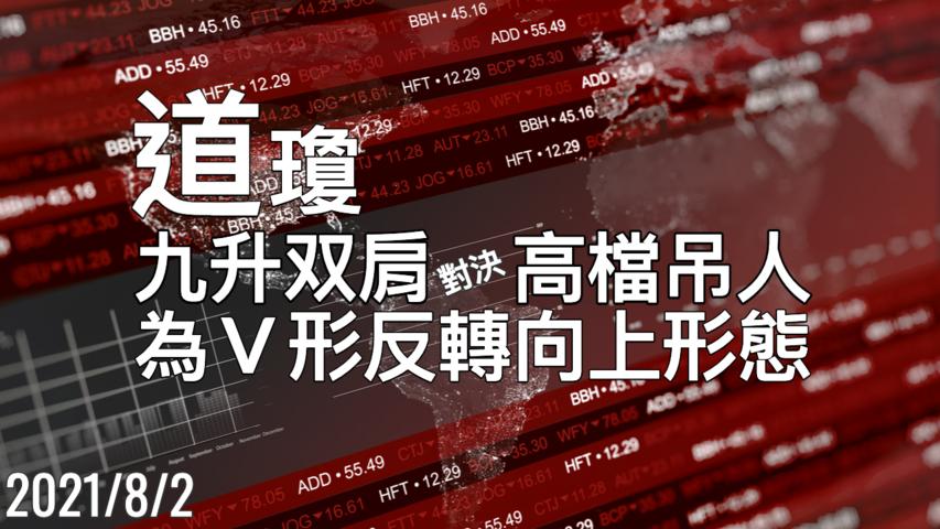 美股 道琼 为V形反转向上的形态 8/2