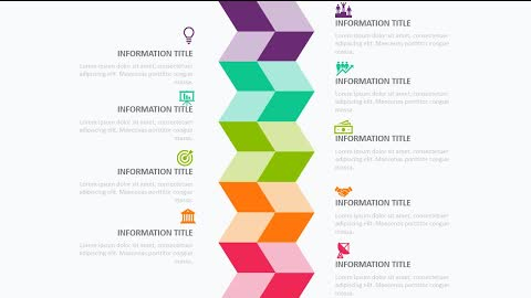 9 colorful Options Infographic Slide in PowerPoint