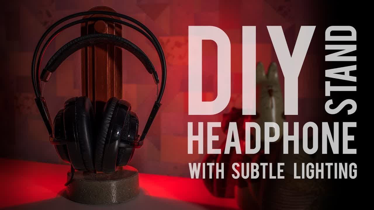 DIY Tombstone Headphone Stand With Bloody Lighting [How To Make]