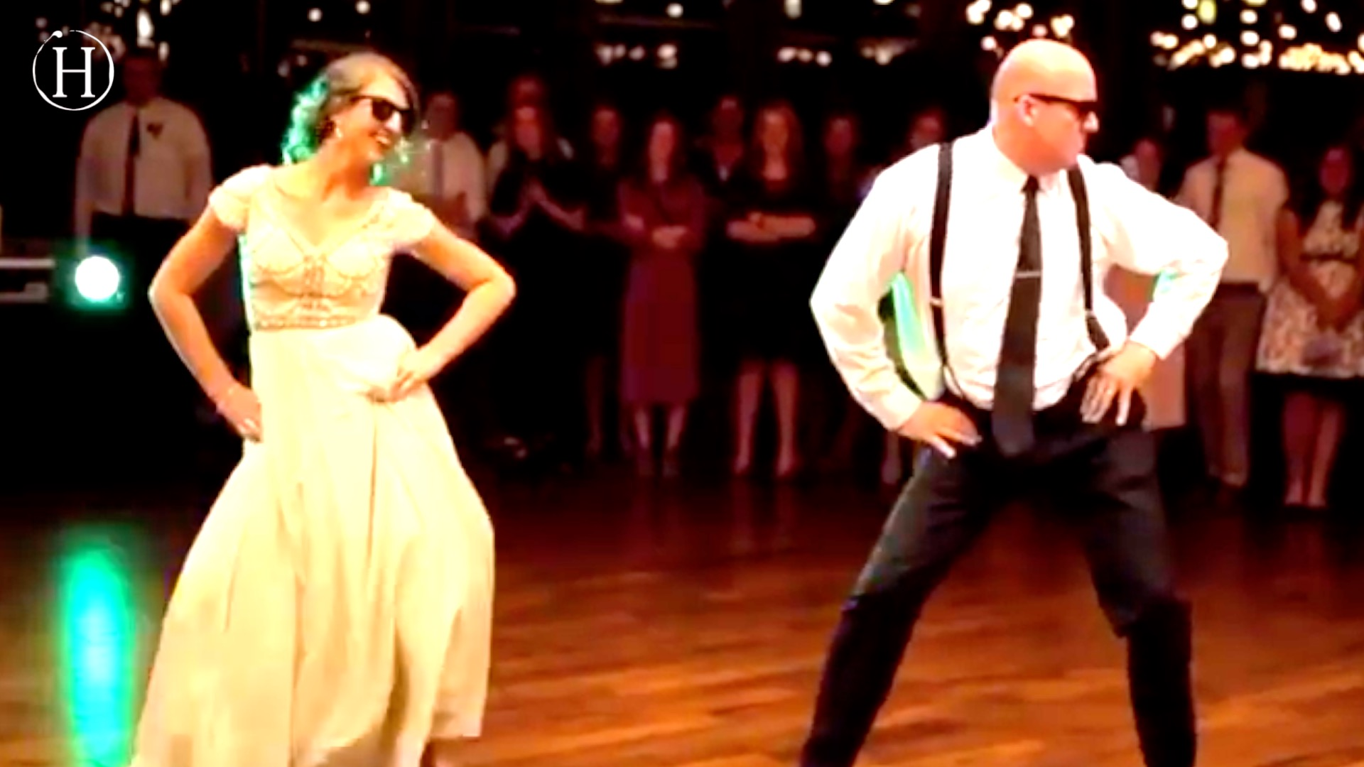 Father and Daughter Surprise Wedding Guests With Epic Dance Routine   Humanity Life