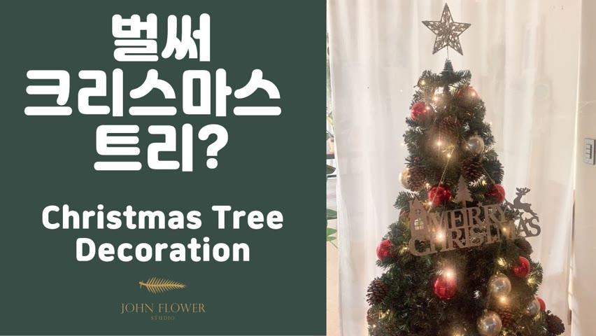 [ENG][존플라워 John Flower] 크리스마스 트리 꾸미기 Christmas Tree Decoration