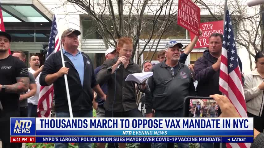 Thousands March to Oppose Vaccine Mandate in NYC