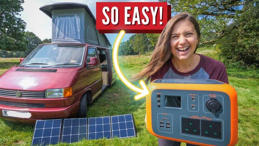 Easy Off-Grid Power Set-Up | PowerOak Bluetti | Vanlife Power Solution