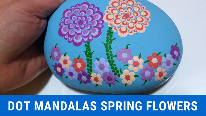Paint Dot Mandalas Spring Flowers