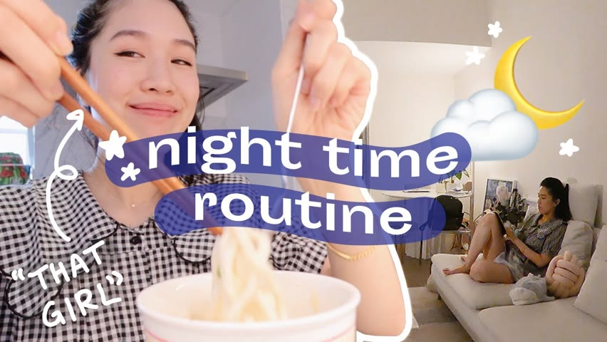 """create a nighttme routine you'll love winding down to 🌙  how to be """"that girl"""" evening edition"""