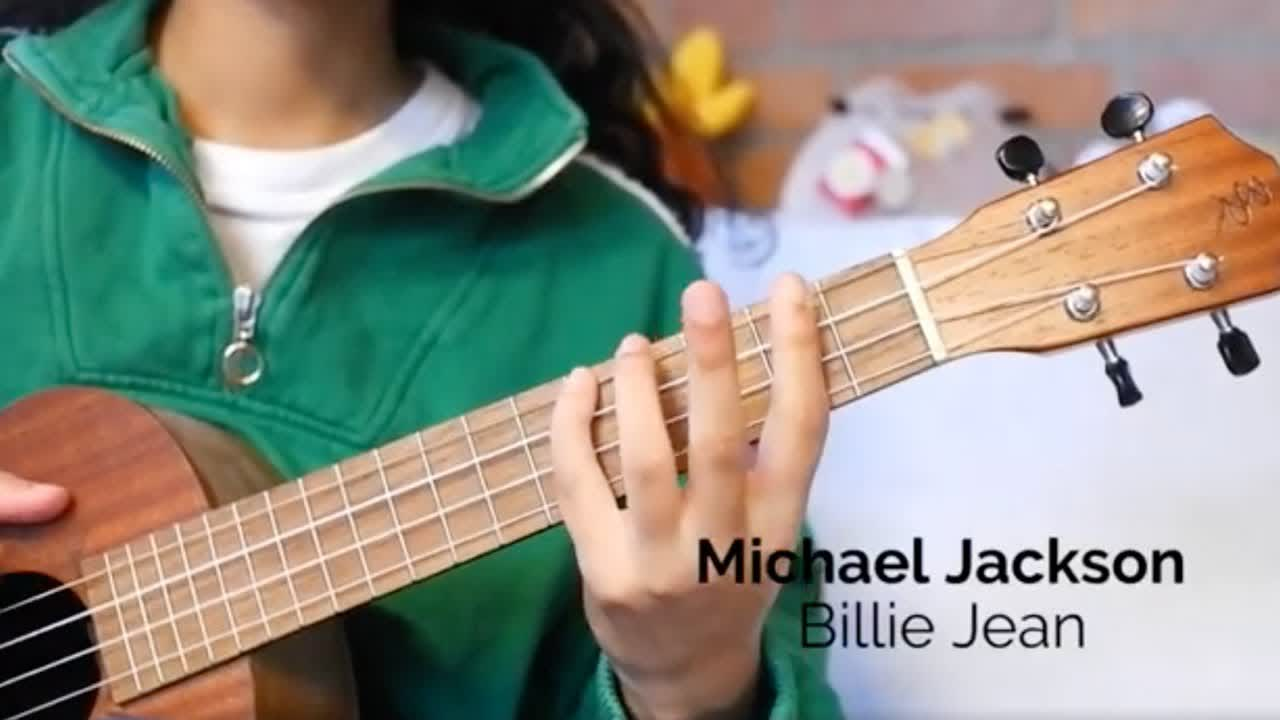 """Learn how to play """"Billie Jean"""" on a ukulele!"""