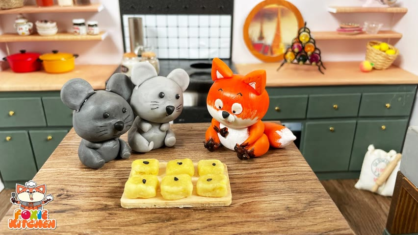 [ENG SUB] Sweet Potato Mini Cakes   ASMR Mini Cooking