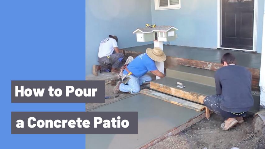 How to Pour a Concrete Patio