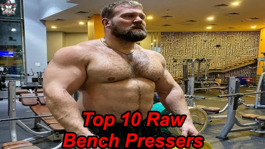 The Top 10 Raw Bench Pressers of All Times