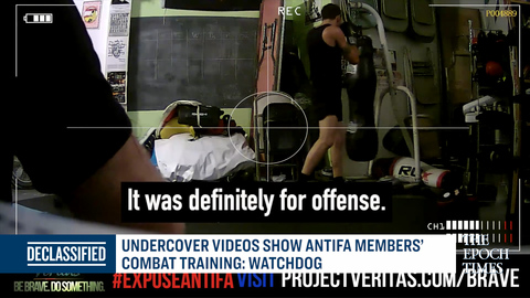 Undercover Videos Show Antifa Members' Combat Training