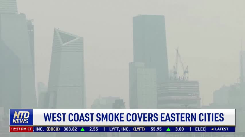 West Coast Smoke Covers Eastern Cities