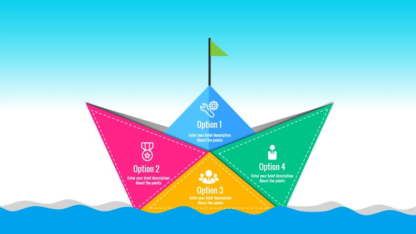 How to make a Paper Boat with 4 Options in PowerPoint