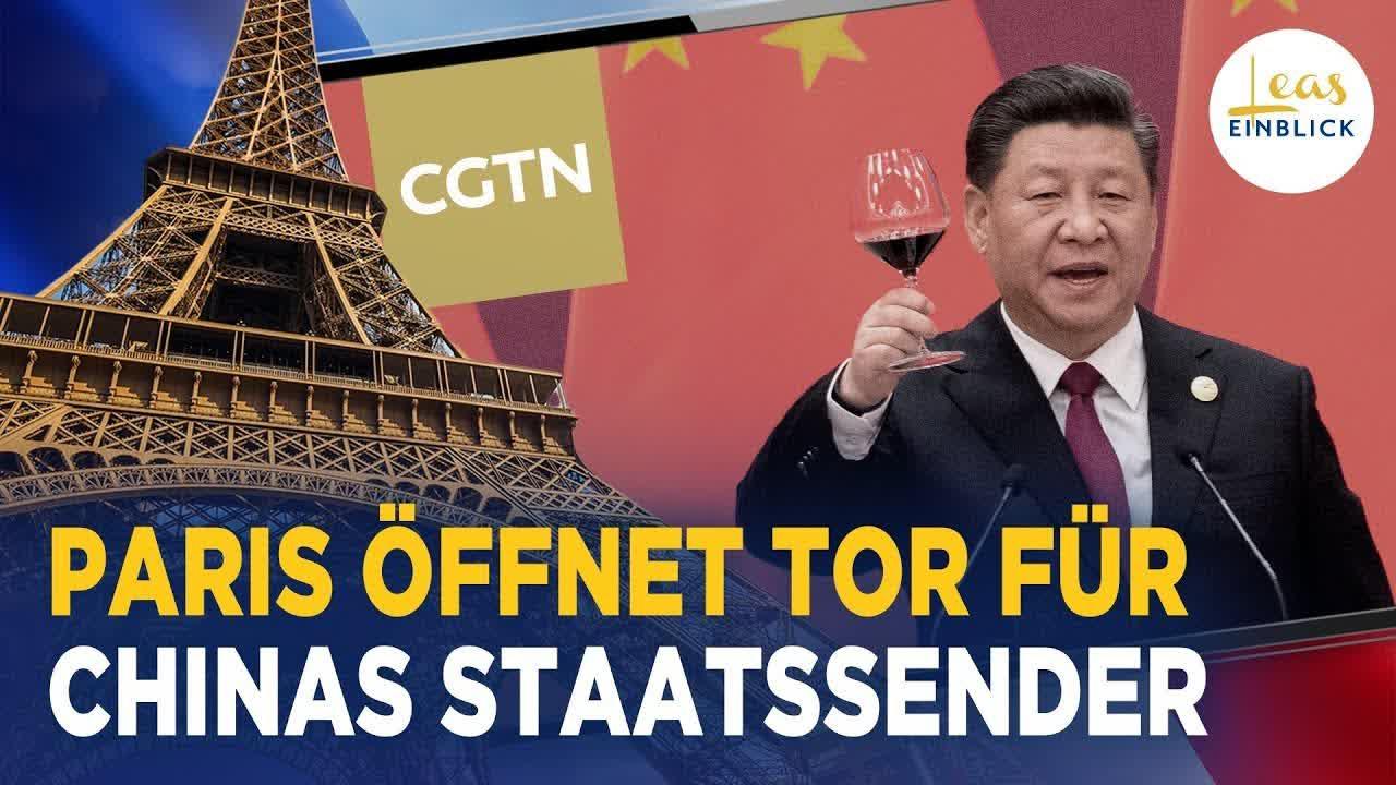 China-Sender umgeht britisches Verbot über Frankreich | Pekings Propaganda verpackt als FAZ-Anzeige