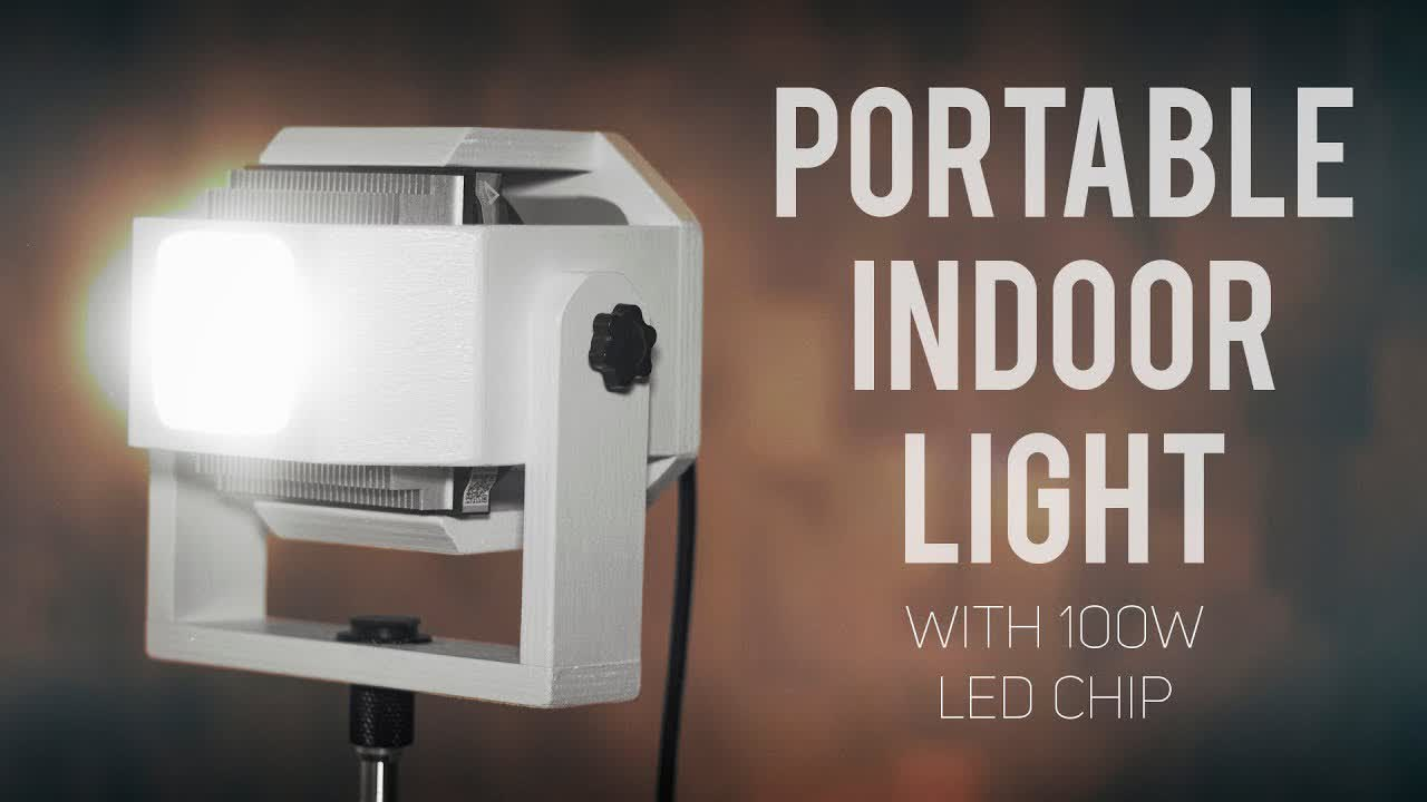Portable Indoor Light with 100W LED Chip [How To Make]