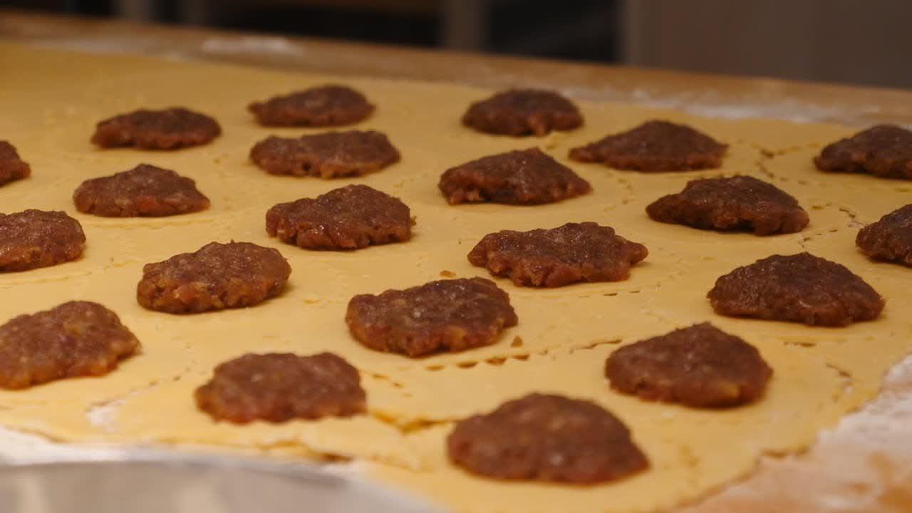 말레이시아 육포 과자 Bakkwa Pie - Malaysian Street Food
