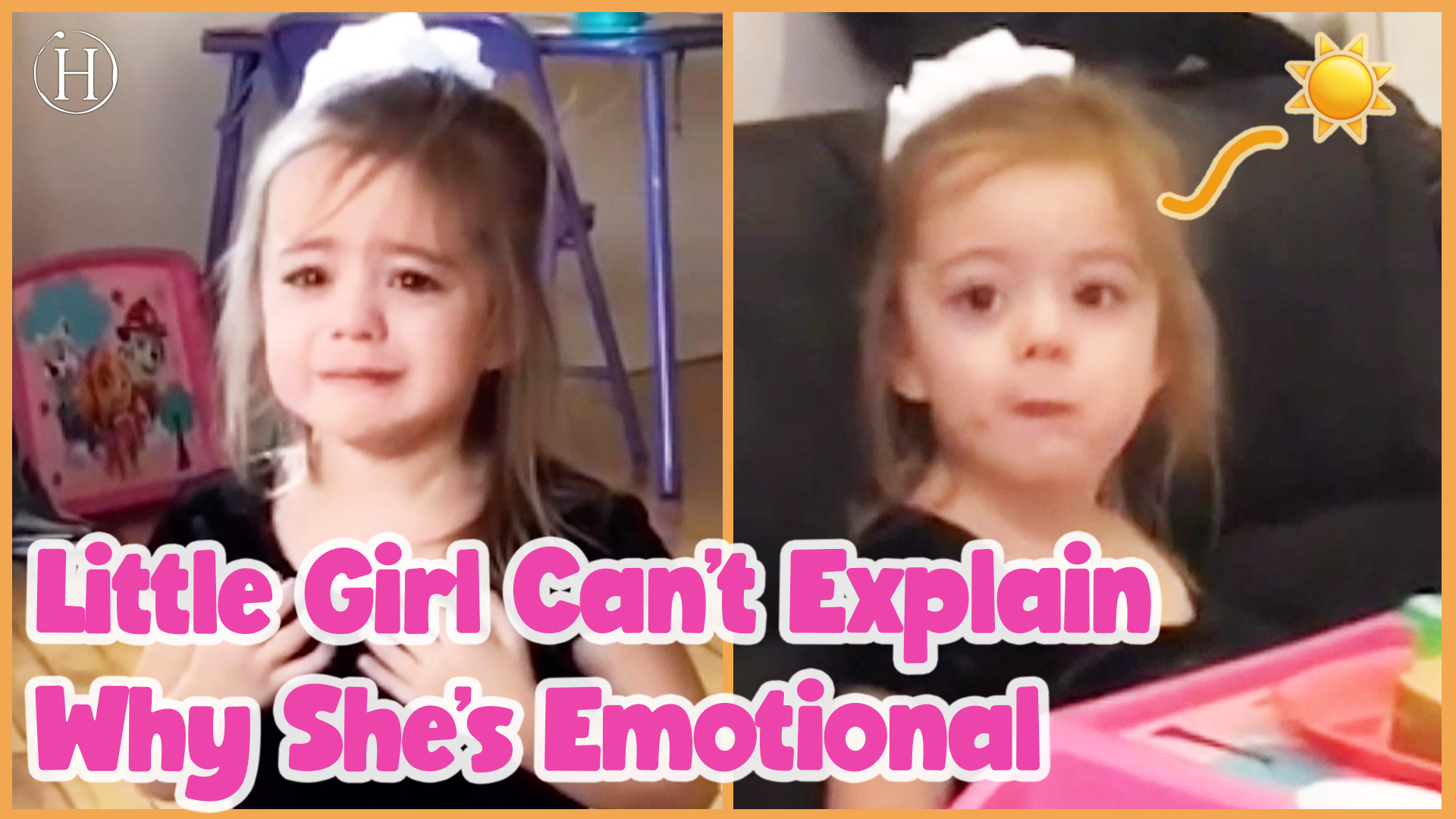 Three Year Old Can't Explain Why She's Sad | Humanity Life