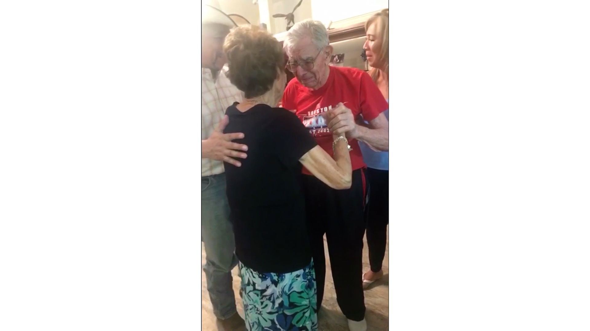 Man with Alzheimer's Disease Dances with His Wife