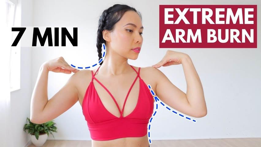 7 Min fast & effective ARM BURN, slimmer arms, bra bulge, sculpt shoulder line & collarbone area